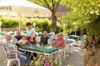 Gartenwirtschaft im Gasthaus Hirschen in Schlatt